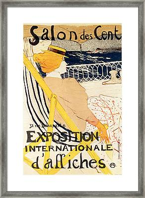 Poster Advertising The Exposition Internationale Daffiches Paris Framed Print by Henri de Toulouse-Lautrec