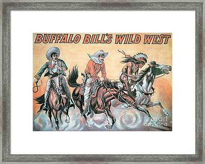 Poster For Buffalo Bill's Wild West Show Framed Print by American School