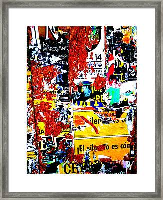 Poster Wall In Santiago  Framed Print by Funkpix Photo Hunter