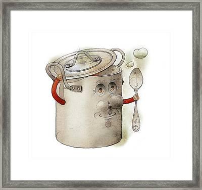 Pot Framed Print by Kestutis Kasparavicius