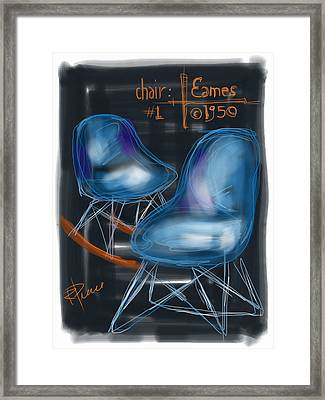Potato Chip Chair Framed Print by Russell Pierce