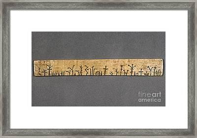 Potawatomi Medicine Stick Framed Print by Granger
