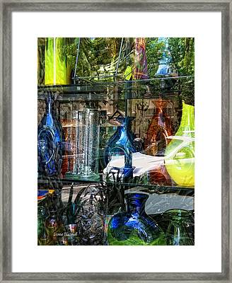 Potential Broken Glass Framed Print by Donna Blackhall