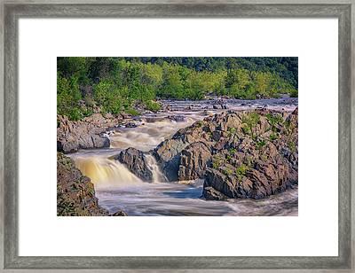 Potomac River At Great Falls Park Framed Print by Rick Berk
