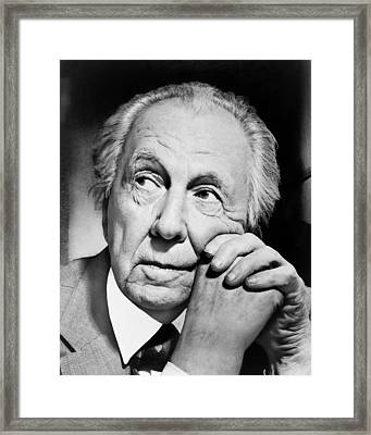 Potrait Of Frank Lloyd Wright Framed Print by Underwood Archives