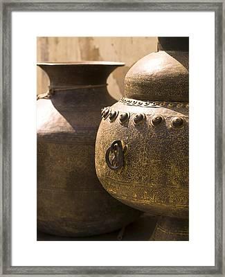 Pots, Jaipur, India Framed Print by Keith Levit
