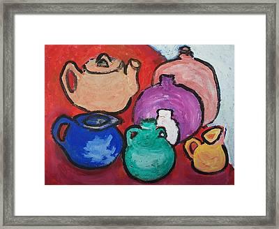 Pots Framed Print by Jay Manne-Crusoe