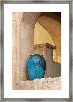 Pottery And Archways Framed Print by Sandra Bronstein