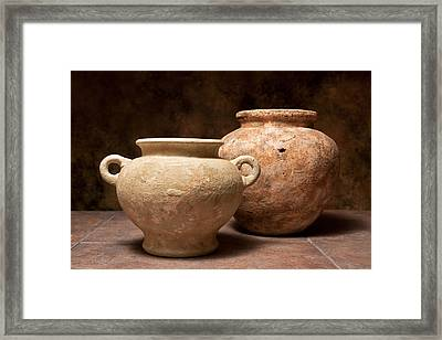 Pottery I Framed Print by Tom Mc Nemar