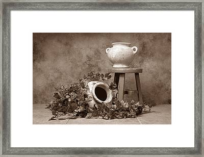 Pottery With Ivy I Framed Print by Tom Mc Nemar