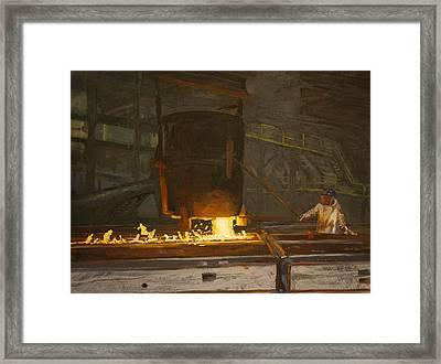 Pouring Framed Print by Martha Ressler