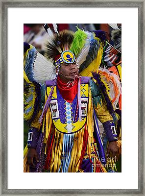 Pow Wow Beauty Of The Past 13 Framed Print by Bob Christopher