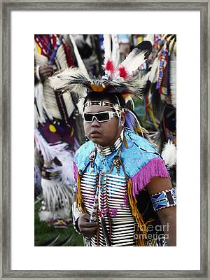 Pow Wow Beauty Of The Past 14 Framed Print by Bob Christopher