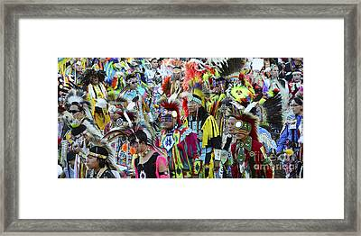 Pow Wow Beauty Of The Past 4 Framed Print by Bob Christopher