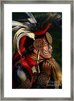 Pow Wow Beauty Of The Past 6 Framed Print by Bob Christopher