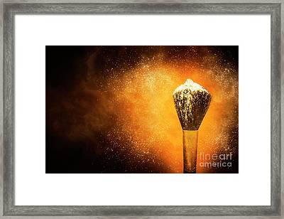 Powder Beauty Brush Framed Print by Jorgo Photography - Wall Art Gallery