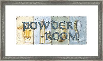 Powder Room Framed Print by Debbie DeWitt