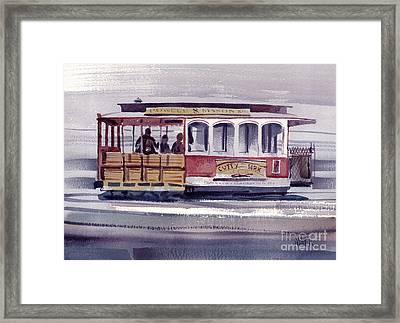 Powell And Mason Line Framed Print by Donald Maier