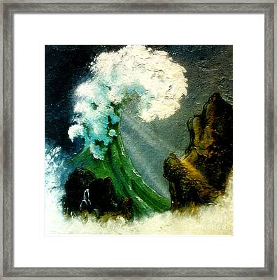 Power And Force Of Nature Framed Print by Shasta Eone