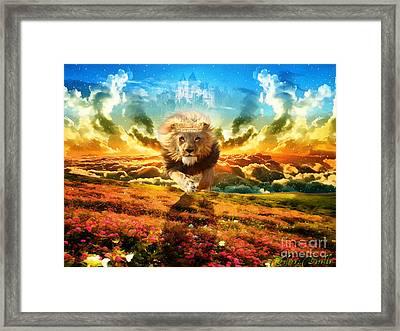 Power And Glory Framed Print by Dolores Develde