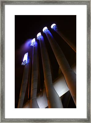 Power Glow Framed Print by Barbara  White
