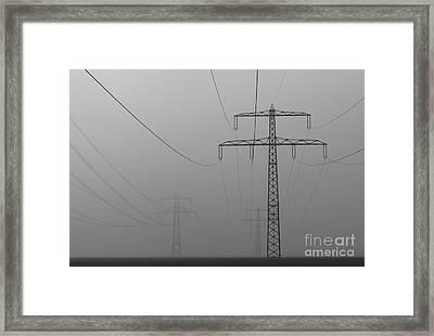 Power Line Framed Print by Franziskus Pfleghart