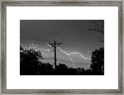 Power Lines Bw Fine Art Photo Print Framed Print by James BO  Insogna