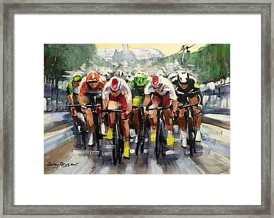 Power Sprint Stage 21 Framed Print by Shirley Peters