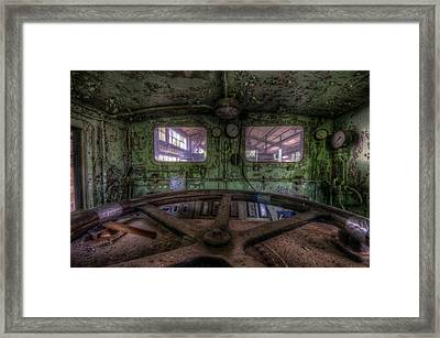 Power Station Train Framed Print by Nathan Wright