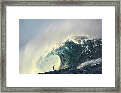 Powerful Punishment Framed Print by Sean Davey