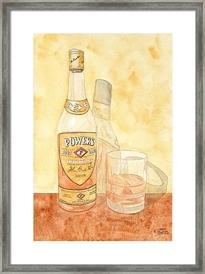 Powers Irish Whiskey Framed Print by Ken Powers