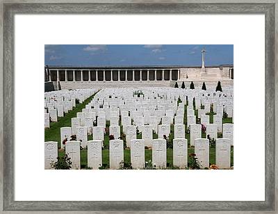 Framed Print featuring the photograph Pozieres British Cemetery by Travel Pics