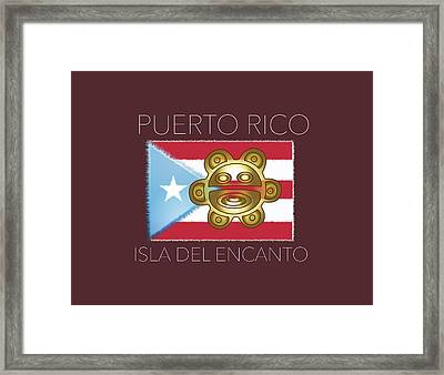 Pr Isla Del Encanto Framed Print by Daniel P Cronin