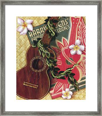 Practice My Uke Framed Print by Sandra Blazel - Printscapes