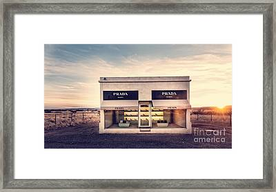 Prada Store Framed Print by Edward Fielding