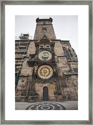 Prague Astronomical Clock Framed Print by Andre Goncalves