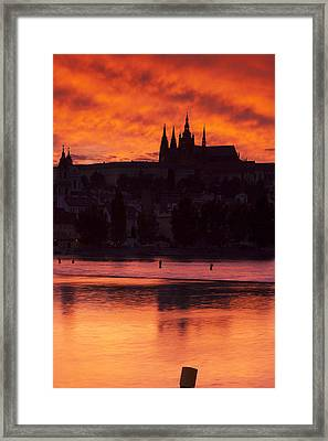 Prague Castle Framed Print by Andre Goncalves