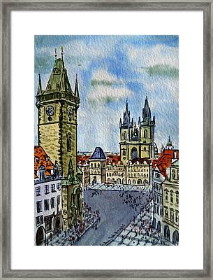 Prague Czech Republic Framed Print by Irina Sztukowski