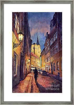 Prague Husova Street Framed Print by Yuriy  Shevchuk