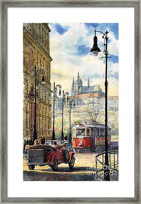 Prague Kaprova Street Framed Print by Yuriy  Shevchuk