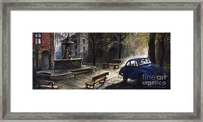 Prague Old Fountain Framed Print by Yuriy  Shevchuk