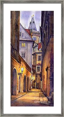 Prague Old Street  Framed Print by Yuriy  Shevchuk