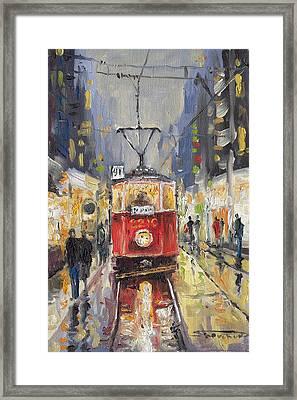 Prague Old Tram 08 Framed Print by Yuriy  Shevchuk