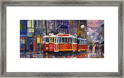 Prague Old Tram 09 Framed Print by Yuriy  Shevchuk