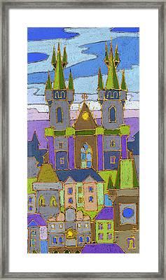 Prague Panorama Framed Print by Yuriy  Shevchuk