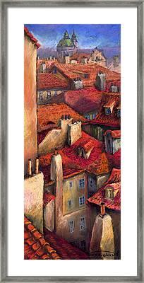 Prague Roofs Framed Print by Yuriy  Shevchuk