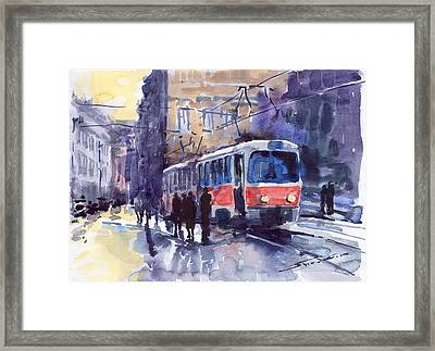Prague Tram 02 Framed Print by Yuriy  Shevchuk