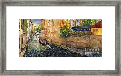 Prague Venice Chertovka 2 Framed Print by Yuriy  Shevchuk