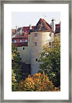 Praha Castle Framed Print by Shawn Wallwork