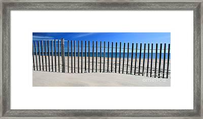 Praia Do Cabeco - Panoramic Framed Print by Carl Whitfield
